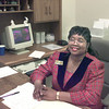 2/9/99--Patricia Robbins at her desk at TSTC in Marshall. Kevin green