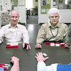 2/11/99---Marshall and Wilma Johnson of Kilgore play dominoes at the senior rec center on Green St in Longview. kevin green