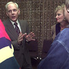 1/8/99---Longview ISD superintendent candidate Michael Moehler and his wife Connie, speak with Longview residents at a reception Friday at the LISD board room. bahram mark sobhani