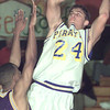 Date:   12/10/98---FILE---Pine Tree's Kevin Daniels puts up a shot. bahram mark sobhani
