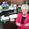 Date:   1/26/99---Upshur County Justice of the Peace in Big Sandy Carolyn Perry in her office in dowtown Big Sandy. Kevin green
