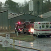 Date:   1/28/99---Smoke comes from the back of one of the buildings at Harris Industries INC Thursday afternoon off of Bill Harris Rd. in Longview. Kevin green