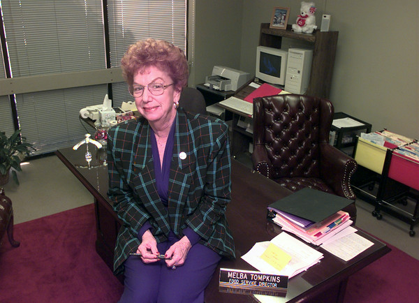 Date:   1/19/99---KISD food services director Melba Tompkins in her office at the KISD administration building in Kilgore. Kevin green