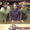 1/14/99---Chandalyn Lewis, from left, Lauren Alexander and Maggie Clark stand in the Longview Municipal Courtroom where they find themselves regularly as Teen Court attorneys. bahram mark sobhani