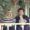 1/1/99---Four generations represented: Lyndal McDonald stands with her daughter Kim Roberts, right, whose daughter, Angela Everitt, left, and granddaughter Jimmy Preston Everett III, have been delivered by Dr. Van Burkleo. bahram mark sobhani