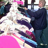 Date:   1/23/99---Sandi Allen of Marshall, shops Saturday monring at PTHS's little theater in Longview. Kevin green