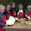 Date:   1/14/99---(left to right) Ann Bonham, Joyce Riggins, Blamche Bruyere, Betty Barrett and Jo Ruth Maness prepare food for the annual First United Methodist Church Cajun Lunch which will be held on Jan. 28.Jessica Williamson