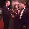 1/30/99---Jerry and Martha Camp, left, greets Kelly Brightwell as he and his wife, Chrystal, enter Saturday's Junior League Charity Ball at the Maude Cobb center. Martha Camp, who is Charity Ball Chairman and other members of the Junior League personally greeted the people as they arrived. bahram mark sobhani