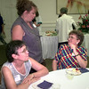 7/21/99---Rachel Beard, left, Lisa LaFrance, center, and Debby Puckette, right, visit during the reception fo rhte Arc of Gregg County at Longview Community Center. Kevin green