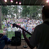 7/9/99---A crowd sits back on the hill side to listen to Jericho Road play at Friday at the Overton Bluegrass Festival. bahram mark sobhani