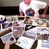 7/27/99---Hallsville Junior High teacher Robert Hetrick with some items from his trip to the NASA Workshop at Edwards AFB in Ca. Kevin green