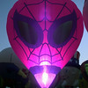 7/16/99-The Spider Man balloon glows at the GTBR balloon glow Friday night in Longview.  JEssica Williamson