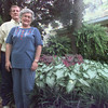 7/26/99- Nolan and Sandra Fields stand in their backyard which they have made into an English Garden.  JessicaWilliamson