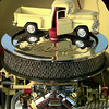 7/1/99---A scaled model sits atop the engine of the truck. bahram mark sobhani