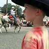6/9/99---Wearing his stetson hat, Matthew Pierce, 5, of Gladewater watches as the Gladewater Rodeo Parade passes him in downtown Gladewater Wednesday. bahram mark sobhani