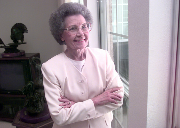 6/14/99---Lillian Bass in her home in Longivew. Kevin green