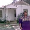 6/4/99---Barbara Givens stands out in front of her new home she purchased with a community block grant Friday afternoon in Longview. Kevin green