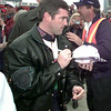 Bobby LaBonte signs autographs prior to the Primestar 500 at TMS in Ft Worth. Kevin green