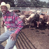 6/19/99---Ten-time world champion Bobby Harrison poses at the Longview Rodeo grounds following Saturday morning's qualifying rounds. bahram mark sobhani