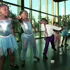 6/18/99---House of Tots Creative School dancers perform Friday at Longview Gregg County Chapter of NAACP 41st Annual Freedom Banquet at the Michelob Room. From left are Courtney Stansell, LaPassion Brown, Rashaad Edwards, Brianna Scott and Paris Moore.