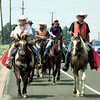 6/7/99-Members of the Circle S ranch participated in a trail ride Monday beginning in Springhill, La. and ending at the Gladewater Rodeo in Gladewater, TX.  Jessica Williamson