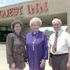 6/3/99Left to Right---Shirley Moon, left, Rose Strong, center, and Earl Moon, rigth, in front of the Guest Inn on Spur 63 in Longview. Kevin green