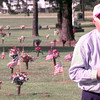 5/31/99---U.S. Senator Phil Gramm speaks, as American Flags fly over Vets grave sites, during a memorial day ceremony Monday afternoon at Lakeview Memorial Cementary in Longview. Kevin green