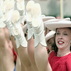 "5/25/99---The Kilgore College Rangerette, including Mandy Hedricks, perform to ""Deep in the Heart of Texas"" Tuesday at the Cotton Bowl Hall of Fame induction ceremony in Dallas. Rangerettes founder Gussie Nell Davis was the first woman inducted into the hall. bahram mark sobhani"