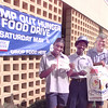 5/5/99---Longview letter carriers Rhonda Wilson, Archy London, Jimmy Schlee and Carl Roney, from left, promote Saturday's Stamp Out Hunger food drive. The food drive is sponsored by the National Association of Letter Carriers, in cooperation with the U.S. Postal Service, National Rural Carriers Association and the AFL-CIO in the Longview/Tyler Area. bahram mark sobhani