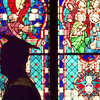 5/21/99---Trinity graduate Brandon Joseph Burns walks past a stained glass window of Trinity Episcopal Church during the commencement processional Friday night. Trinity School of Texas graduated 19 students in their tenth commencement. bahram mark sobhani