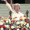5/25/99---Deana Bolton Covin waves to the crowd Tuesday as accepts posthumous honors for Gussie Nell Davis, who was inducted into the Cotton Bowl Hall of Fame Tuesday in Dallas. Davis founded the Kilgore College Rangerettes in 1940 and they have performed in the Cotton Bowl since 1949. Covin served 21 years as Assistant Director and Director of the Rangerettes. bahram mark sobhani