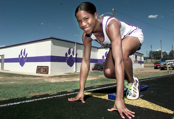 5/6/99---Hallsville freshman Chastidy Russell will compete in the state track meet. bahram mark sobhani