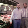 5/7/99---Pizza Inn manager Chris Robichaux, left, and owner Joe Crouch stand next to the buffet line Friday at the E. Marshall location. bahram mark sobhani