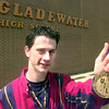 5/12/99---Gladewater High School's UIL state winner Regan Cole with his medal Wednesday afternoon at Gladewater High School in Gladewater. Kevin Green