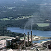 5/7/99---TU Electric's plant on Martin Creek Lake with Gregg County Airport in the background where the air monitor is located for the City of Longview. Kevin green