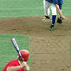 5/29/99---East all-star pitcher Kyle Oney of Hallsville delivers a pitch to an unsuspecting batter during the Seniors East v. West All-Star baseball game. bahram mark sobhani