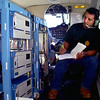 11-11-99----Technician Sergio Alvarez records ozone and other atmospheric parameters during a state environmental agency mission above Northeast Texas Thursday. Alvarez is part of the Baylor University aviation division contracted by the Texas Natural Resource Conservation Commission. Glenn Evans