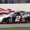 NASCAR driver Rusty Wallace races during the race in Texas. Kevin GReen