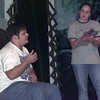 """11/1/99---Maranatha High School students Taylor Wingert and Jenny Hardy rehearse a scene from """"The Fourth Wish,"""" a play to be presented at their annual fund-raiser dinner theater. bahram mark sobhani"""