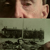 11/4/99---John Whittle holds a picture taken of himself at a Nazi concentration camp during World War II. Whittle served as a medic during the war. bahram mark sobhani