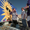 11-3-99---Robin Reese, left, an actor with the National Theatre for Children from Minnesota, talks with students about SWEPCO's Watts on Wheels educational trailer Wednesday afternoon at Forest Park Middle School in Longview. Kevin Green