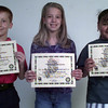 11/5/99---Winners in the Texas Forest Service's annual fire prevention poster contest are, from left, Jacob Murray, Sydney Joseph and Aley Salgado. bahram mark sobhani
