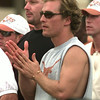 11-10-99---LHS graduate Matthew McConaughey on the sidelines at last year's Texas vs Texas A&M college football game in Austin. Kevin GReen