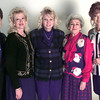 11-4-99---Left to Right----The Christmas Corner group-----Left---Diane Davis-publicity chairman, Martha Oney-Chairman, Debbie Laird-co-chair, Alyce Monsour-marketing director, and Vickie Ogilvie-underwriting chairman, pose for a photo. Kevin GReen