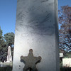 10-24-99--- A grave headstone in hte cemetery behind GSMC in Longview. Kevin GReen