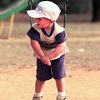 "10-5-99--Tyler Hearn, the three year old son of Mike and Mandy Hearn, of Longview, shakes his legs as he says ""My legs are'nt big enough"" while playing Tuesday afternoon at McWhorter Park in Longview. Kevin Green"