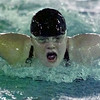 10/30/99---Longview swimmer Natalie Hupe competes in the 100 meter fly on Saturday at the Aquatic Center. bahram mark sobhani