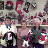 10-12-99--Left to Right---Judy Enlow, Rita Jo Campbell, and Elsie Childers, with items for the hollyday sale at 1st Christiasn Church in Longview. Kevin Green