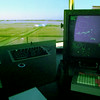 10/13/99---A radar system at the Gregg County Airport air tower displays the location and altitudes of aircraft in Gregg County airspace.<br /> bahram mark sobhani