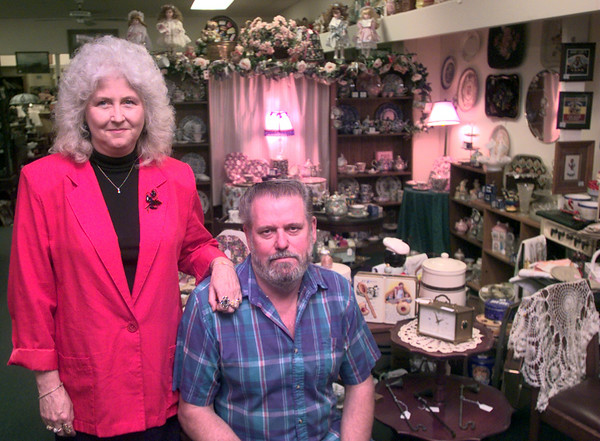 10-6-99--Donna Christie and her husband Larry in hte store in downtown Longview. Kevin Green